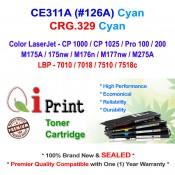 Qi Print HP CE311A 126A CP1025 M175 M176 CRG.329 Toner Compatible (Cyan)