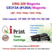 Qi Print CANON CRG 329 LBP7010 7018 7518c HP CE313A Toner Compatible (Magenta)