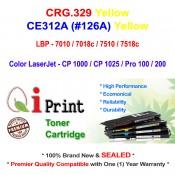 Qi Print CANON CRG 329 LBP7010 7018 7518c HP CE312A Toner Compatible (Yellow)