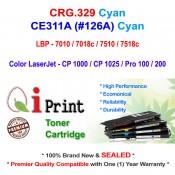 Qi Print CANON CRG 329 LBP7010 7018 7518c HP CE311A Toner Compatible (Cyan)