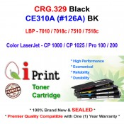 Qi Print CANON CRG 329 LBP7010 7018 7518c HP CE310A Toner Compatible (Black)