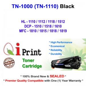 Qi Print Brother TN1000 TN1110 HL1100 HL1110 Toner Compatible (Black)
