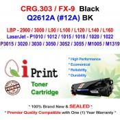 Qi Print CANON CRG303 LBP2900 3000 FX-9 Use HP Q2612A Toner Compatible (Black)