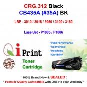 Qi Print CANON CRG312 LBP3010 LBP3050 Use HP CB435A Toner Compatible (Black)
