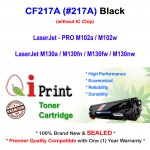 Qi Print HP CF217A 17A M102 M130 Toner Compatible * IC Chip (Black)