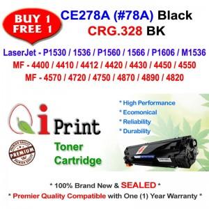 Qi Print HP CE278A 78A For HP P1560 M1536 Canon CRG 328 Toner Compatible (2 Units)