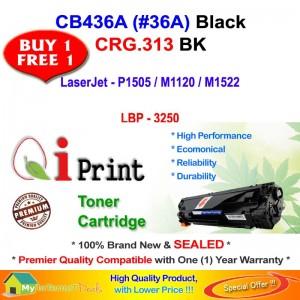 Qi Print HP CB436A 36A For HP P1505 M1522 Canon CRG 313 Toner Compatible (2 Units)