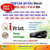 Qi Print HP Q2612A 12A For HP P1020 P3050 Canon CRG 303 Toner Compatible (2 Units)