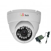 CCTV AHD 1/4 Infra Red Dome Camera w/ HD 720H/960P 1MP (White)