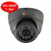 CCTV HD 1.0MP 1/3 Infra Red Dome Camera with HD 720P/960P (Dark Grey)