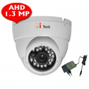CCTV AHD 1/3 Infra Red Dome Camera w/ HD 960H 1.3MP (White)