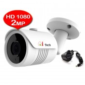 CCTV HD 1080P 2MP 1/3 Infra Red Bullet Out Door Camera Whether Proof (Qi Tech - White)