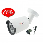 CCTV AHD 1/3 Infra Red Bullet Out Door Camera HD 1080P 2MP (White)