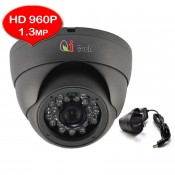 CCTV HD 960P 1.3MP 1/3 Infra Red Dome Camera Support Night Vision (Dark Grey)