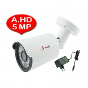 CCTV HD 1/2.9 Infra Red Bullet Out Door Camera HD 1080P 5MP (White)
