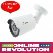 CCTV HD 5MP 1/2.9 Infra Red Bullet Out Door Camera HD 2560x1980P (White)