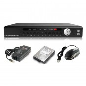 4-Channels HD Recorder DVR with Mobile Apps Support (HDMI+VGA)