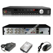 CCTV 8-Channels HD DVR Network Recorder with Mobile Apps Support (HDMI+VGA)