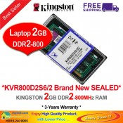 Kingston DDR2 RAM 2GB 800MHz PC6400 Laptop Notebook RAM (KVR800D2S6/2G)