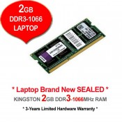 Kingston DDR3 RAM 2GB 1066MHz PC8500 Laptop Notebook RAM
