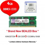 Kingston DDR3 RAM 4GB 1333MHz PC10600 Laptop Notebook RAM