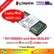 Kingston DDR3 RAM 4GB 1333MHz PC10600 Laptop Notebook RAM (KVR13S9S8/4G)