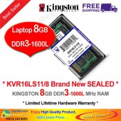 Kingston DDR3 RAM 8GB 1600MHz PC12800 Laptop Notebook RAM (KVR16LS11/8G)