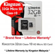 Kingston 32GB Micro SDHC Class 10 Flash Memory Card