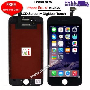 "APPLE iPhone 5s - 4"" LCD Display Screen With Touch Digitizer (FREE Tempered Glass)"