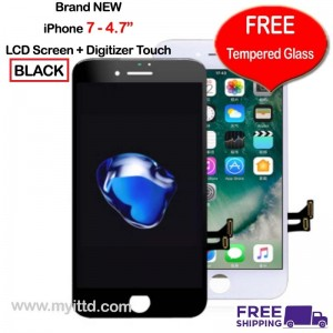 "APPLE iPhone 7 - 4.7"" LCD Display Screen With Touch Digitizer (FREE Tempered Glass)"