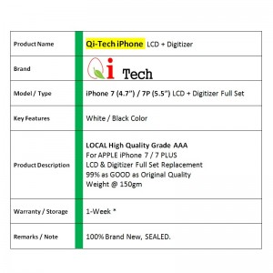 """APPLE iPhone 7 PLUS 5.5"""" LCD Display Screen With Touch Digitizer (FREE Tempered Glass)"""
