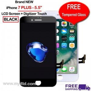 "APPLE iPhone 7 PLUS 5.5"" LCD Display Screen With Touch Digitizer (FREE Tempered Glass)"