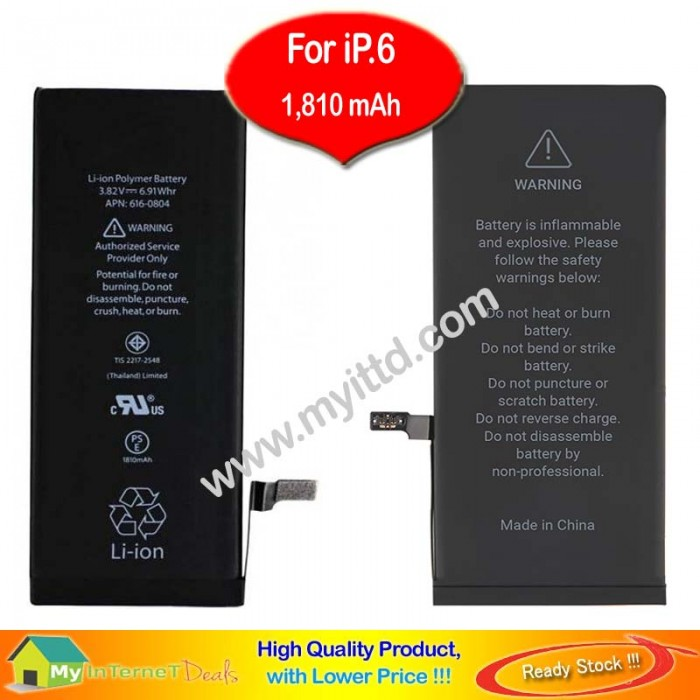 online retailer d925b 057e6 Apple iPhone 6 Battery Replacement 1,810mAh Original Zero Recycle ...