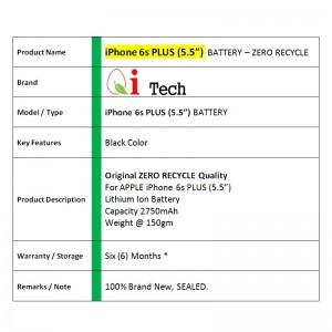 Apple iPhone 6s PLUS Battery 2,750mAh Original Zero Recycle (Tools Set)