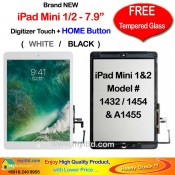 Apple iPad Mini 1 & 2 A1432 A1454 A1455 Touch Screen Digitizer (FREE Temper Glass)