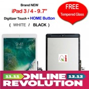 Apple iPad 3 & 4 Touch Screen Digitizer with FREE Temper Glass