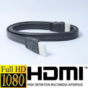 HDMI Long Male To Male Full HD VER 1.4a Support 3D Video Streaming (Flat / Black)