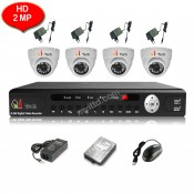CCTV 4-CH HD 2/5MP DVR Recorder with Infra Red Camera Package