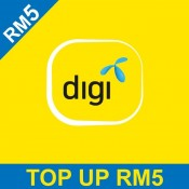 DiGi Prepaid RM5 Reload/Topup Instantly (500 Points Redemption)