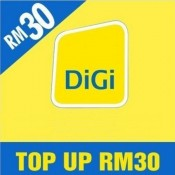 DiGi Prepaid RM30 Reload/Topup Instantly (3000 Pts Redemption)