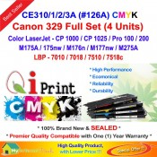Qi Print HP 126A CE310A 311A 312A 313A CP1025 M175 Color Toner Full Set