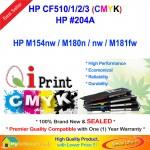 Qi Print HP 204A CF510A 511A 512A 513A M154 M180 M181 Color Toner (CMYK)