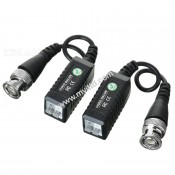 CCTV Passive Video BALUN For TVI AHD CVI HD - 1 Pair / 2 Units (UTP To BNC)