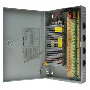 Power Supply Box 12V 10A 15A For CCTV Camera with Individual Fuse (METAL)