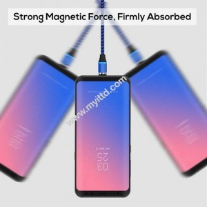 Magnetic Phone Fast Charging Cable with USB 3 in 1 Support Micro, iOS & Type-C